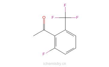 CAS:174013-29-7_2'-氟-6'-(三氟甲基)苯乙酮的分子结构
