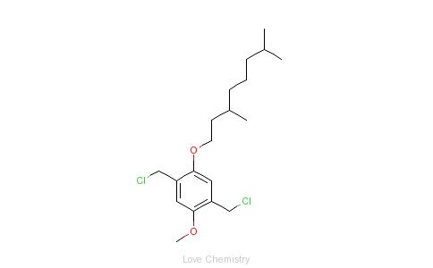 CAS:174097-32-6_2,5-双(氯甲基)-1-甲氧基-4-(3,7-二甲基辛氧基)苯的分子结构