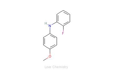 CAS:1741-78-2_2-氟-N-(4-甲氧基苯基)苯胺的分子结构