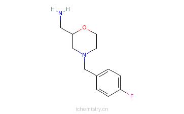 CAS:174561-70-7_3-氨甲基-4-(4-氟苄基)吗啉的分子结构