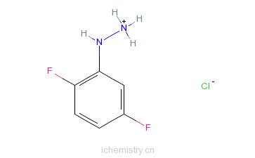 CAS:175135-73-6_2,5-二氟苯肼盐酸盐的分子结构