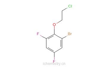 CAS:175203-19-7_1-溴-2-(2-氯乙氧基)-3,5-二氟苯的分子结构
