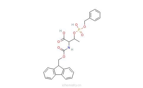 CAS:175291-56-2_Fmoc-苏氨酸磷酸苄酯的分子结构