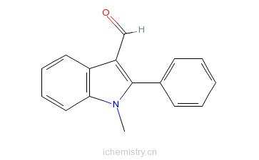 CAS:1757-72-8_1-甲基-2-苯基吲哚-3-甲醛的分子结构