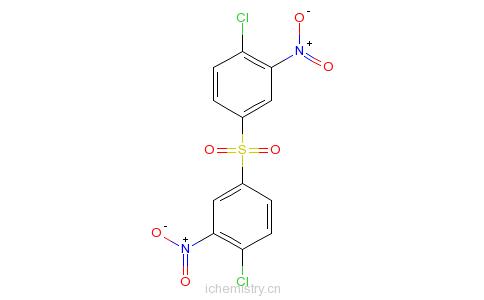 CAS:1759-05-3_1,1'-硫酰双[4-氯-3-硝基苯]的分子结构