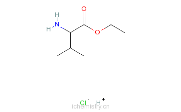 CAS:17609-47-1_L-缬氨酸乙酯盐酸盐的分子结构
