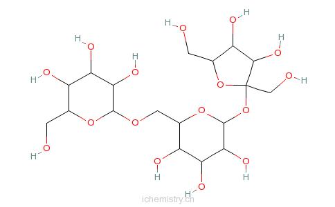 CAS:17629-30-0_D(+)-五水棉子糖的分子结构