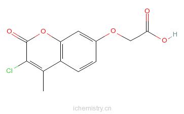 CAS:176446-74-5_7-(羧基甲氧基)-3-氯-4-甲基香豆素的分子结构