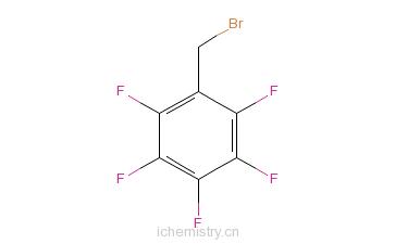CAS:1765-40-8_2,3,4,5,6-五氟溴化苄的分子结构