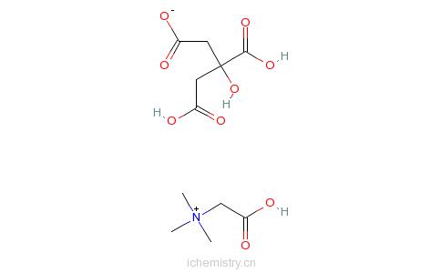 CAS:17671-50-0_柠檬酸甜菜碱的分子结构