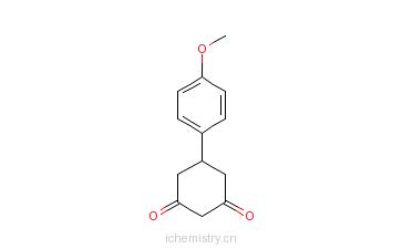 CAS:1774-12-5_5-[4-(甲氧苯基)]-1,3-环己二酮的分子结构