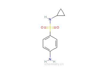 CAS:177785-41-0_N-环丙基-4-氨基苯磺酰胺的分子结构