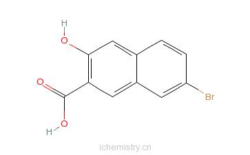 CAS:1779-11-9_3-羟基-7-溴-2-萘甲酸的分子结构