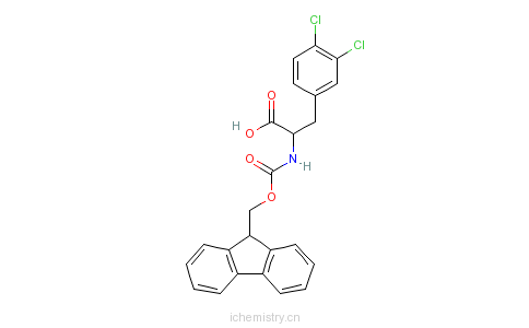 CAS:177966-59-5_FMOC-L-3,4-二氯苯丙氨酸的分子结构