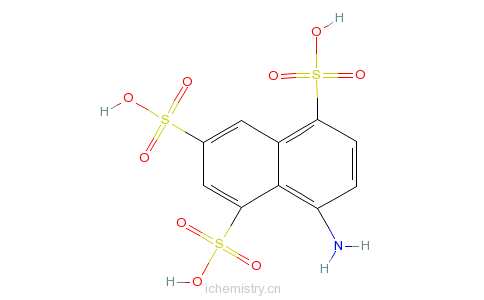 CAS:17894-99-4_1-萘胺-4,6,8-三磺酸的分子结构