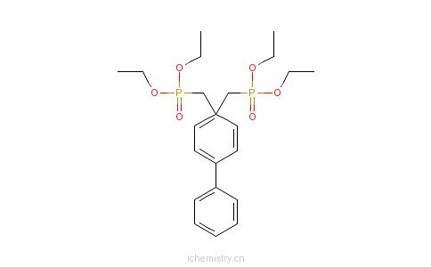 CAS:17919-34-5_4,4'-双(二乙氧基膦酰甲基)联苯的分子结构