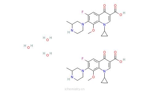 CAS:180200-66-2_水合加替沙星的分子结构
