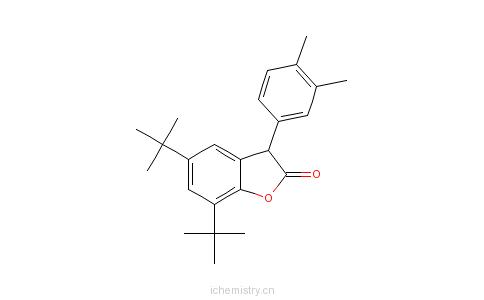 CAS:181314-48-7_二甲苯基二丁基苯并呋喃酮的分子结构