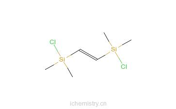 CAS:18146-12-8_1,2-双氯二甲基硅基化乙烯的分子结构