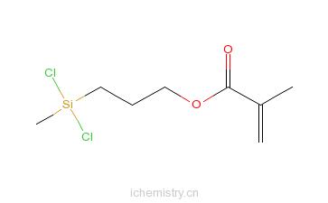 CAS:18301-56-9_2-甲基丙烯酸-3-(甲基二氯硅基)丙(醇)酯的分子结构