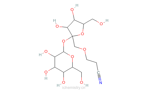 CAS:18304-13-7_八(O-氰基乙基)蔗糖的分子结构