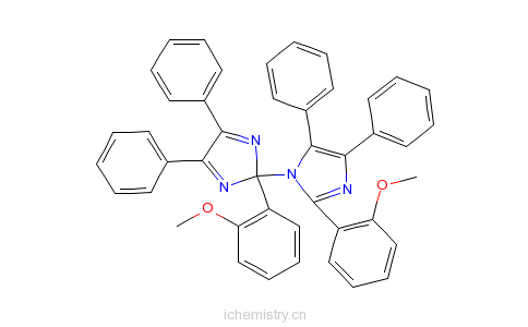 CAS:1831-70-5_2-(2-甲氧基苯基)-4,5-二苯基咪唑-1,2'-二聚体的分子结构