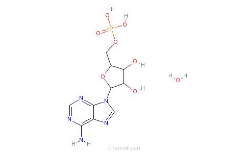 CAS:18422-05-4_腺苷-5'-单磷酸一水合物的分子结构