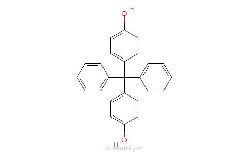 CAS:1844-01-5_4,4'-二苯亚甲基双酚的分子结构