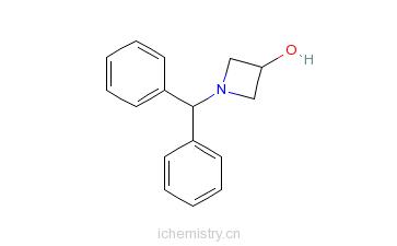 CAS:18621-17-5_N-二苯甲基氮杂环丁烷-3-醇的分子结构