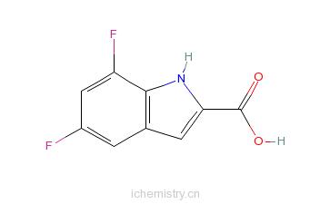 CAS:186432-20-2_5,7-二氟吲哚-2-甲酸的分子结构