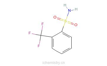 CAS:1869-24-5_2-三氟甲基苯磺酰胺的分子结构