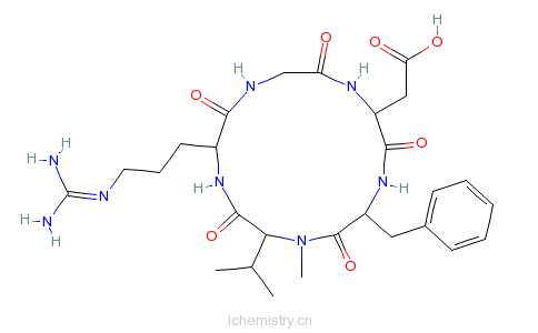 CAS:188968-51-6_西仑吉肽的分子结构