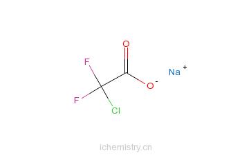 CAS:1895-39-2_二氟氯乙酸钠的分子结构