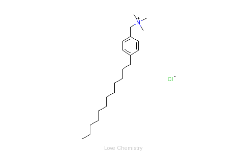 CAS:19014-05-2_N,N,N-三甲基-4-十二烷基苯甲基氯化铵英文名称:Benzenemethanaminium,4-dodecyl-N,N,N-trimethyl-,chlorid的分子结构