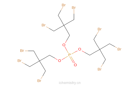 CAS:19186-97-1_三(三溴新戊基)磷酸酯的分子结构