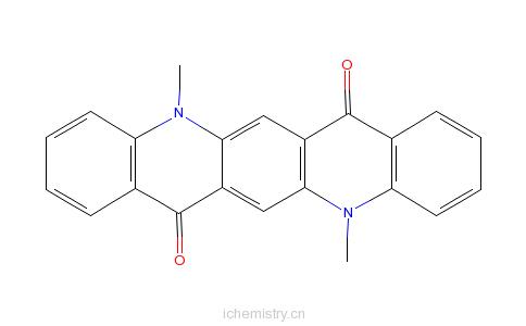 CAS:19205-19-7_N,N'-二甲基喹吖啶酮的分子结构