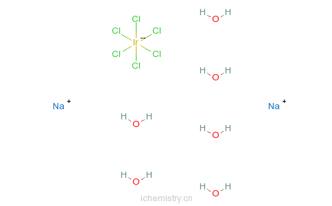 CAS:19567-78-3_氯铱酸钠六水合物的分子结构