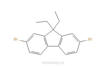 CAS:197969-58-7_2,7-二溴-9,9-二乙基芴的分子结构