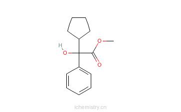 CAS:19833-96-6_2-环戊基-2-羟基苯乙酸甲酯的分子结构