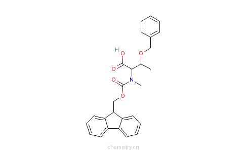 CAS:198561-81-8_N-芴甲氧羰酰基-N-甲基-O-苄基-L-苏氨酸的分子结构