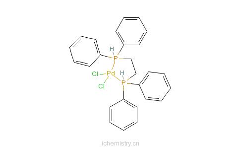 CAS:19978-61-1_1,2-二(二苯基膦基)乙烷二氯化钯(II)的分子结构