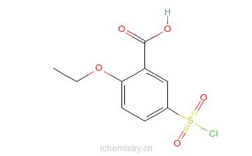 CAS:200575-16-2_5-氯磺酰基-2-乙氧基苯甲酸的分子结构