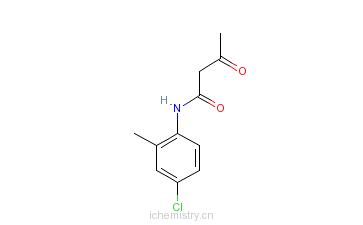 CAS:20139-55-3_4-氯-2-甲基-N-乙酰乙酰苯胺的分子结构