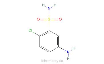 CAS:2015-19-2_4-氯苯胺-3-磺酰胺的分子结构