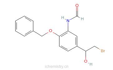 CAS:201677-59-0_(R)-N-(2-(苄氧基)-5-(2-溴-1-羟基乙基)苯基)甲酰胺的分子结构