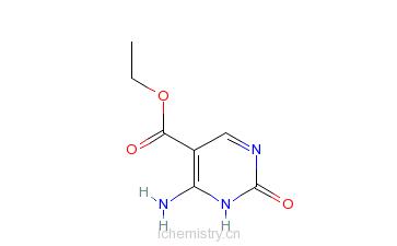 CAS:20187-46-6_4-氨基-2-羟基嘧啶-5-甲酸乙酯的分子结构