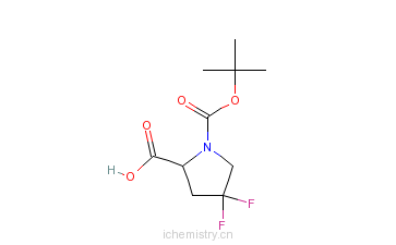 CAS:203866-15-3_N-Boc-4,4-二氟-L-脯氨酸的分子结构