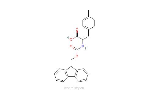 CAS:204260-38-8_FMOC-D-4-甲基苯丙氨酸的分子结构