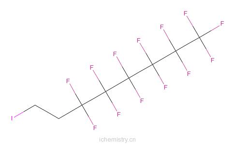 CAS:2043-57-4_1,1,1,2,2,3,3,4,4,5,5,6,6-十三氟-8-碘辛烷的分子结构