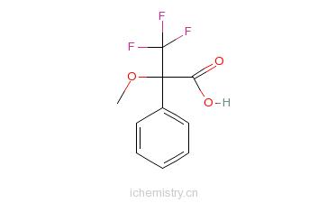 CAS:20445-31-2_(R)-(+)-alpha-甲氧基-alpha-三氟甲基苯乙酸的分子结构